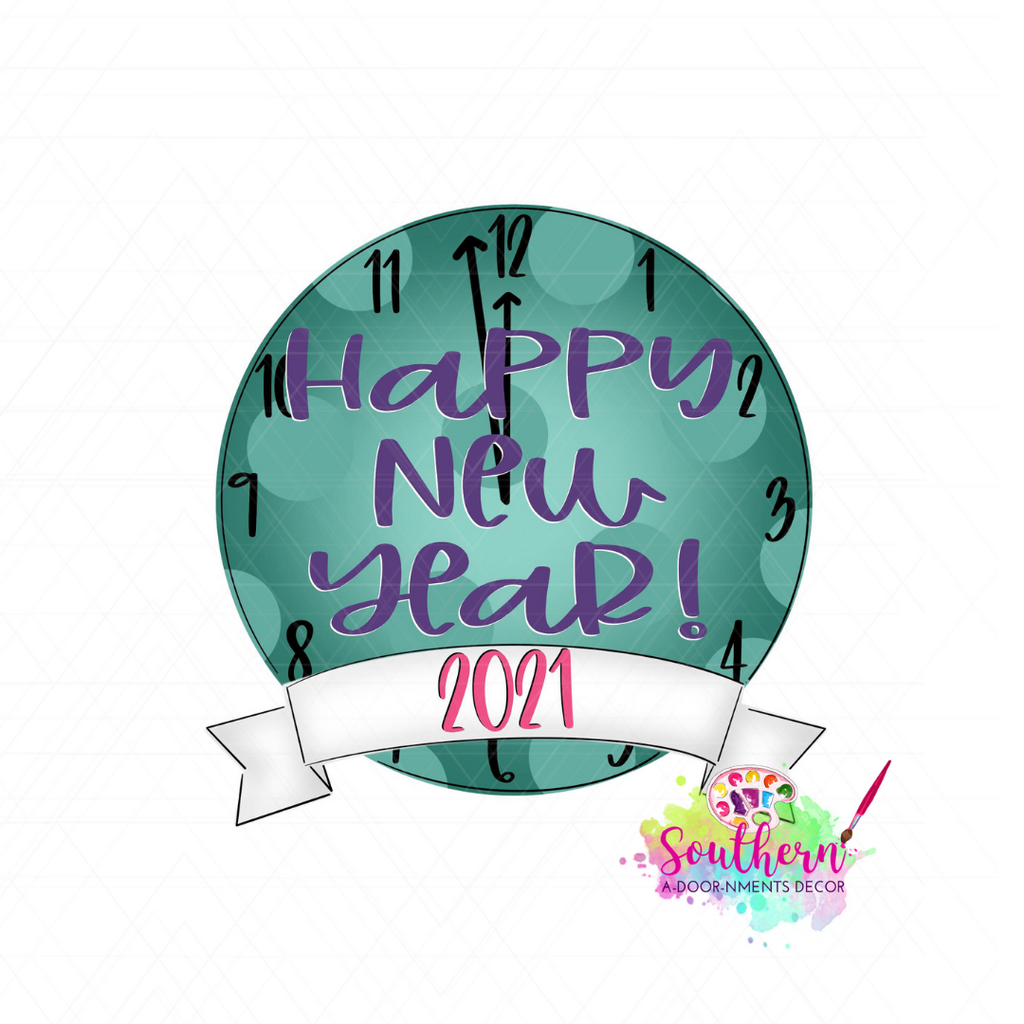 New Year Clock Blank