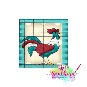 Rooster Quilt Blank