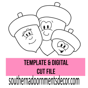 Acorn Family Template & Digital Cut File