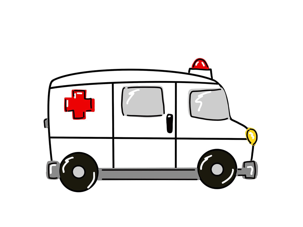 Ambulance Wooden BLANK