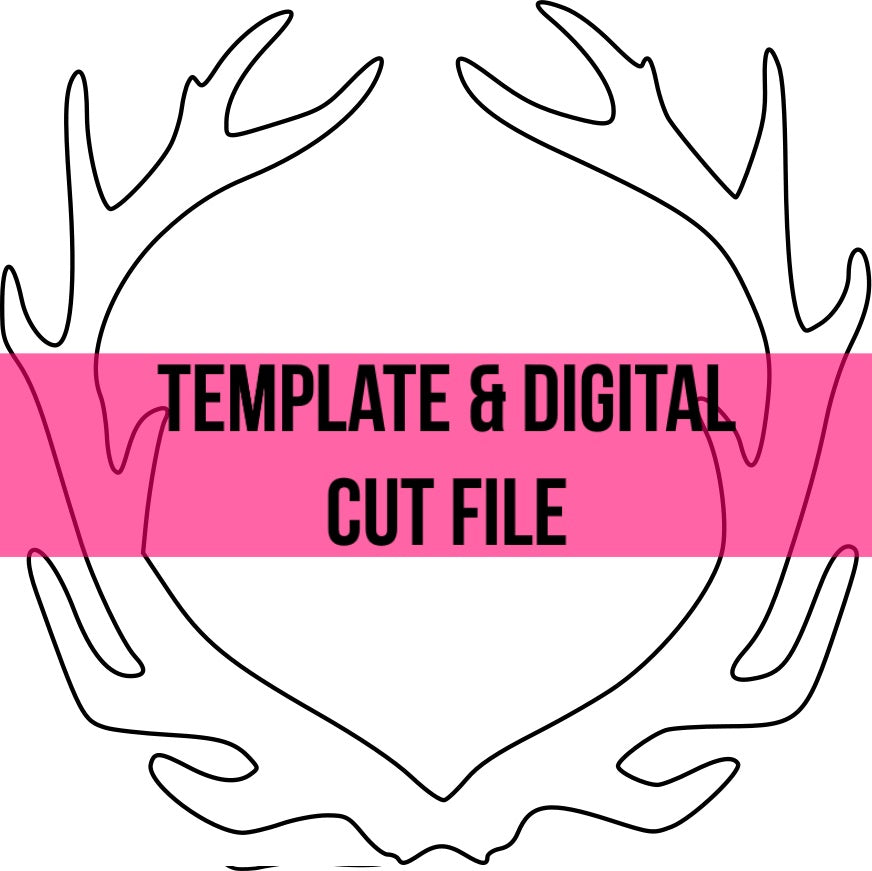 Antler Frame Template & Digital Cut File