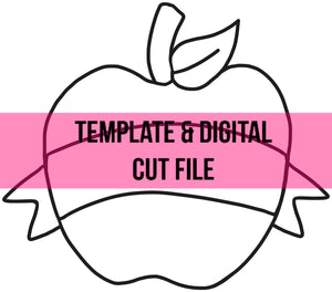 Apple Banner Template & Digital Cut File