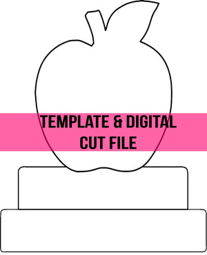 Apple & Books Template & Digital Cut File