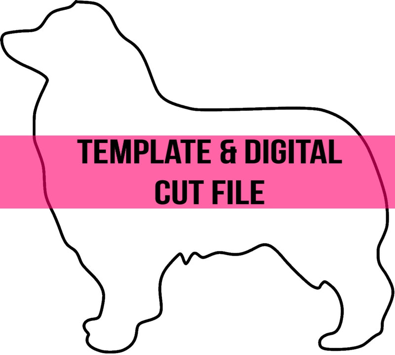 Australian Shepherd Template & Digital Cut File