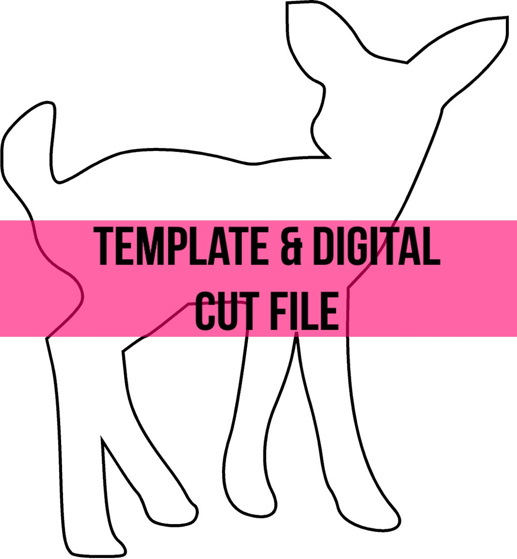 Baby Deer Template & Digital Cut File