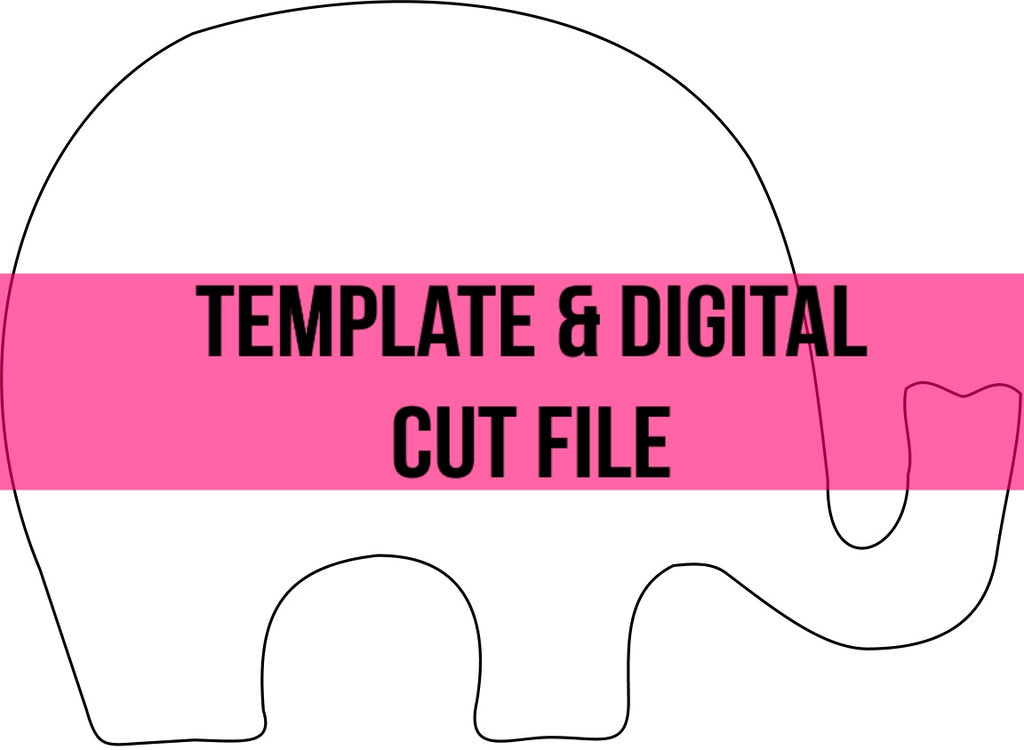 Baby Elephant Template & Digital Cut File