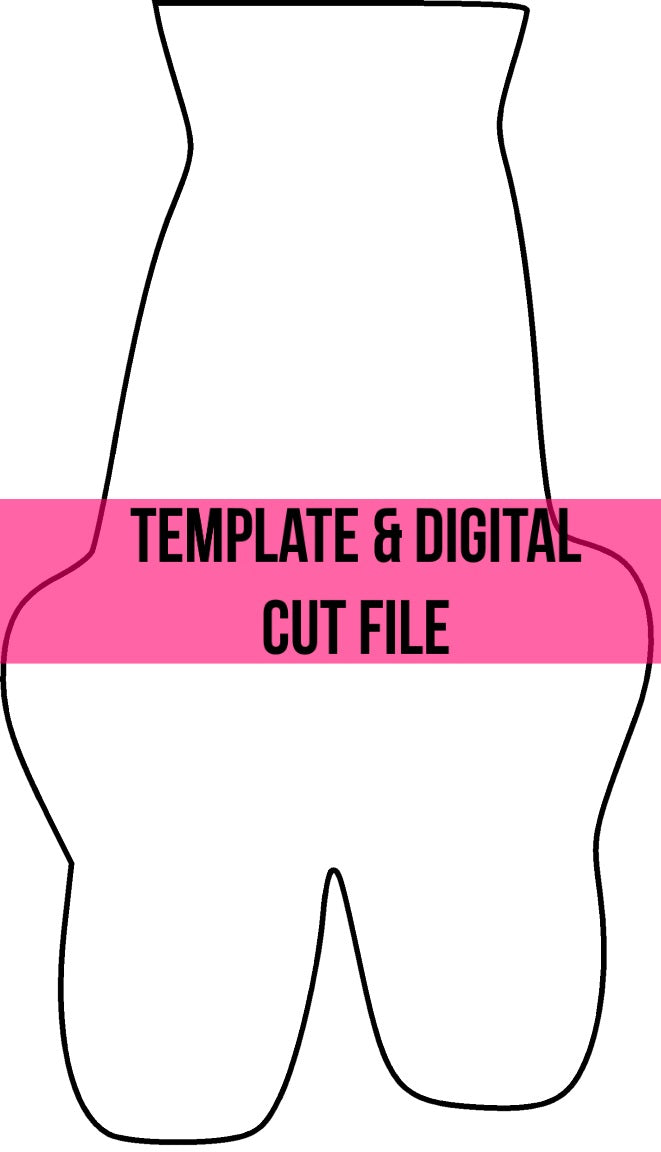 Ballet Slippers Template & Digital Cut File