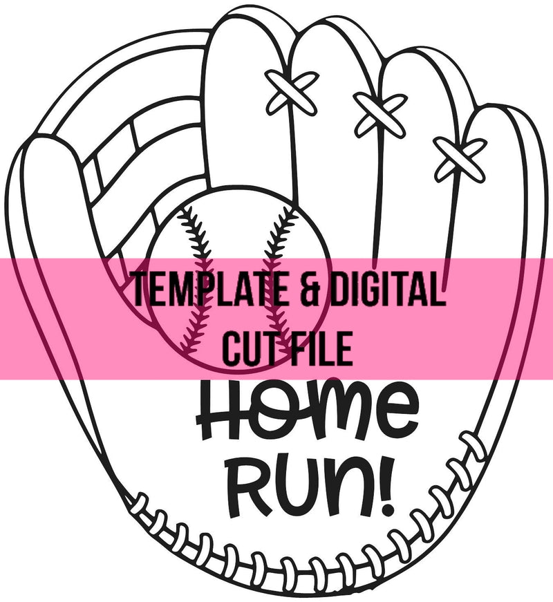 Baseball Glove Template & Digital Cut File