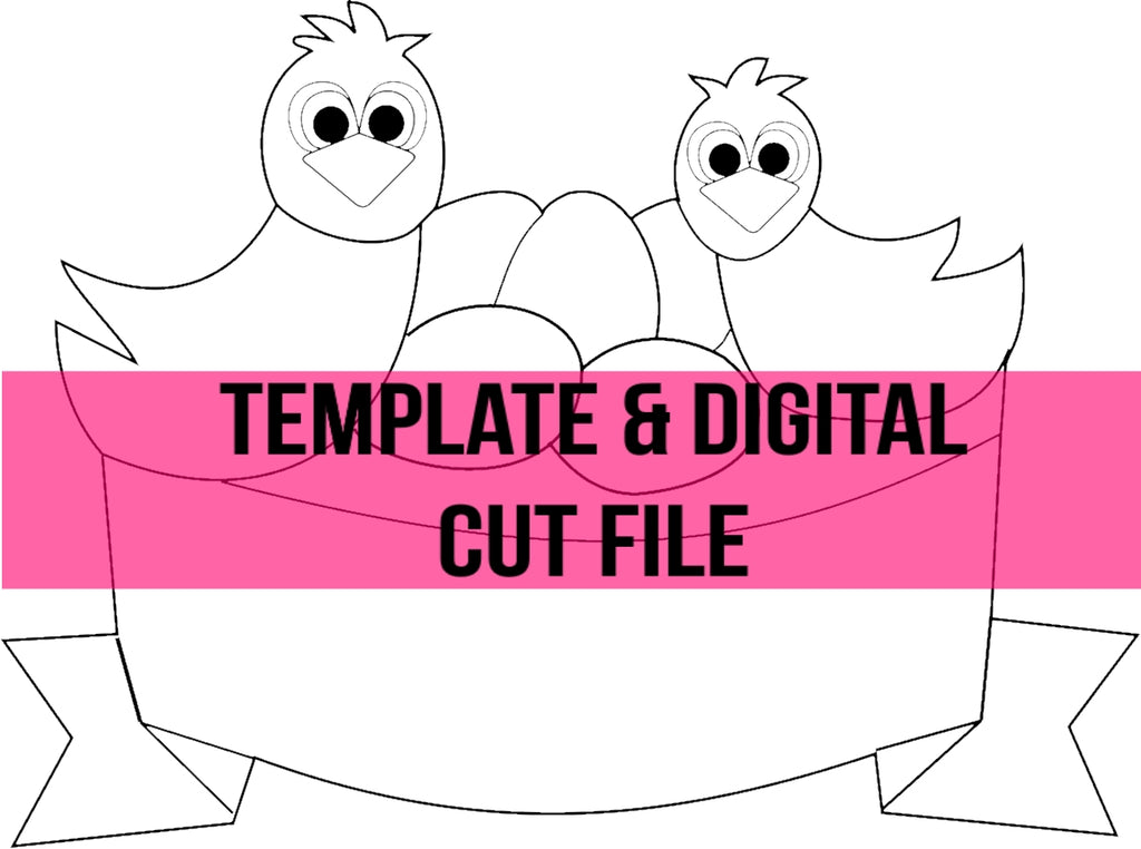 Bird Nest Template & Digital Cut File