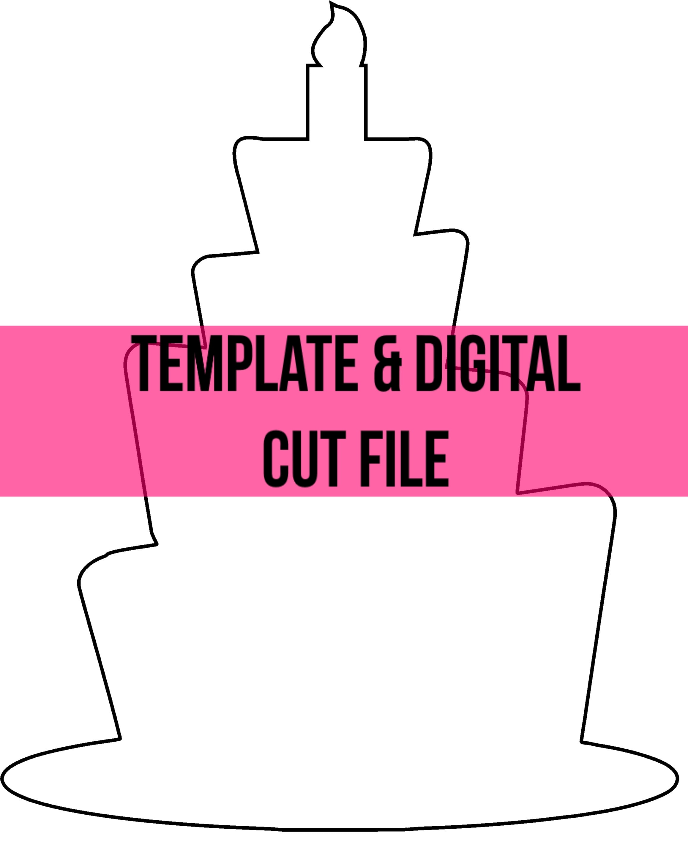 Birthday Cake Template Digital Cut File Southern Adoornments Decor