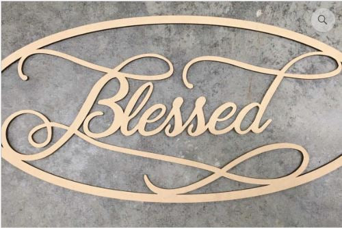 Blessed Oval Wood Blank