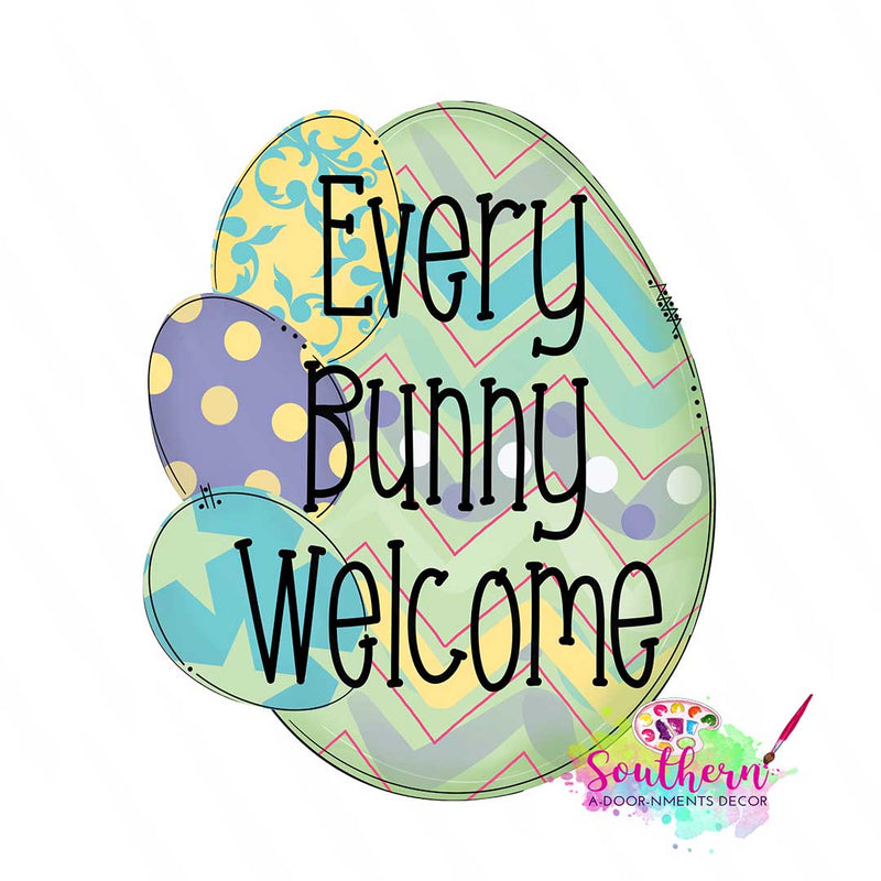 Bunny Welcome Template & Digital Cut File