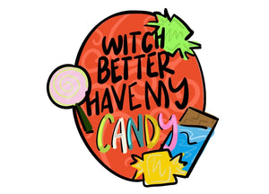 Candy Sign Template & Digital Cut File