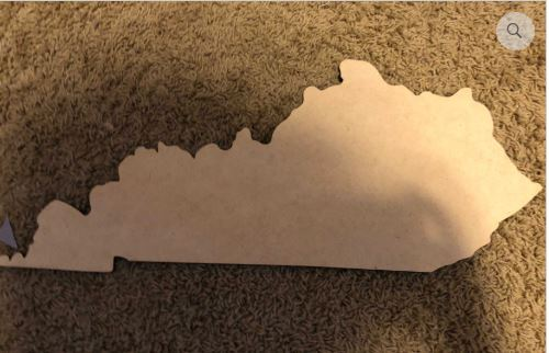 "Blank ""YOUR STATE"" Ornament, Attachment or Door Hanger"