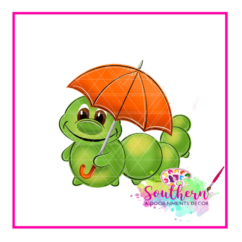 Caterpillar with Umbrella Template & Digital Cut File