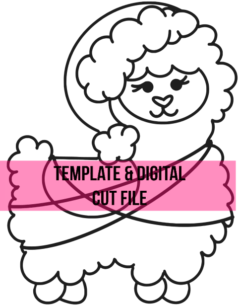 Christmas Llama Template & Digital Cut File