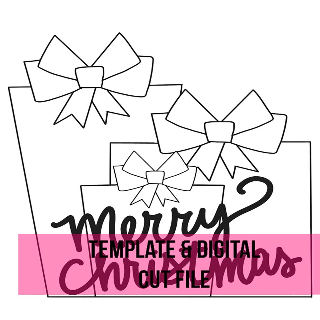 Christmas Presents Template & Digital Cut File