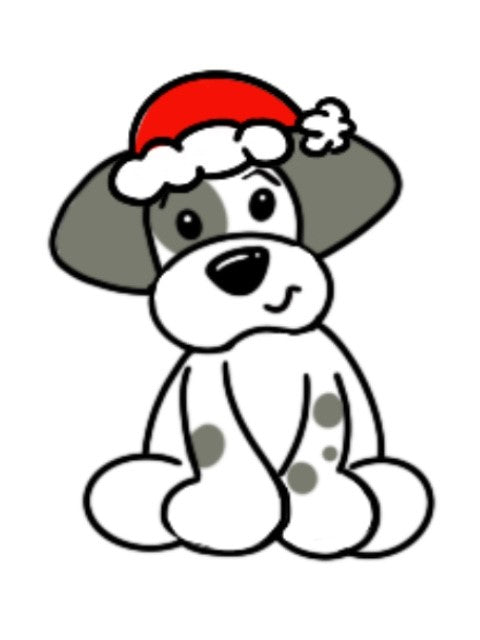 BLANK Christmas Puppy Ornament, Attachment or Door Hanger
