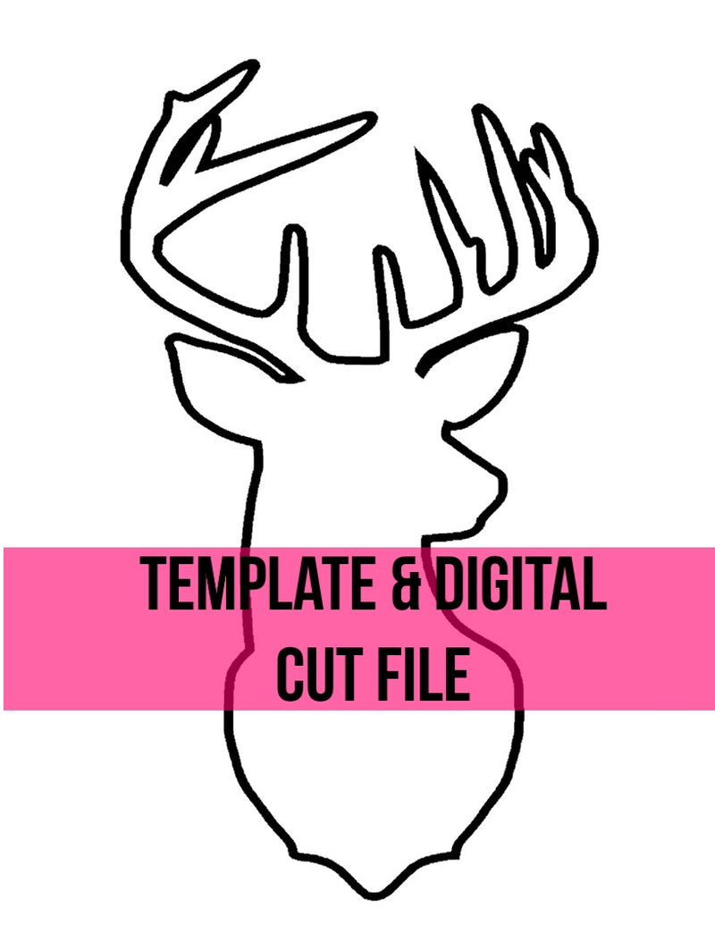 Deer Head Template & Digital Cut File