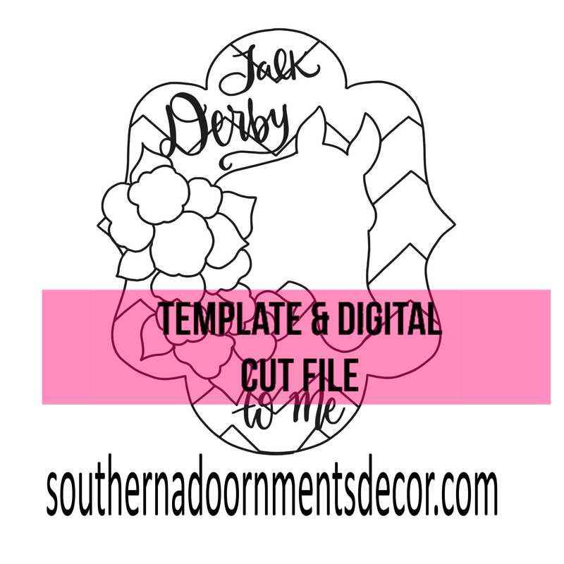 Derby Day Template & Digital Cut File