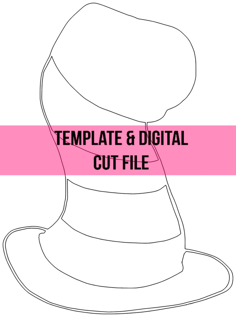 Cat Hat Template & Digital Cut File