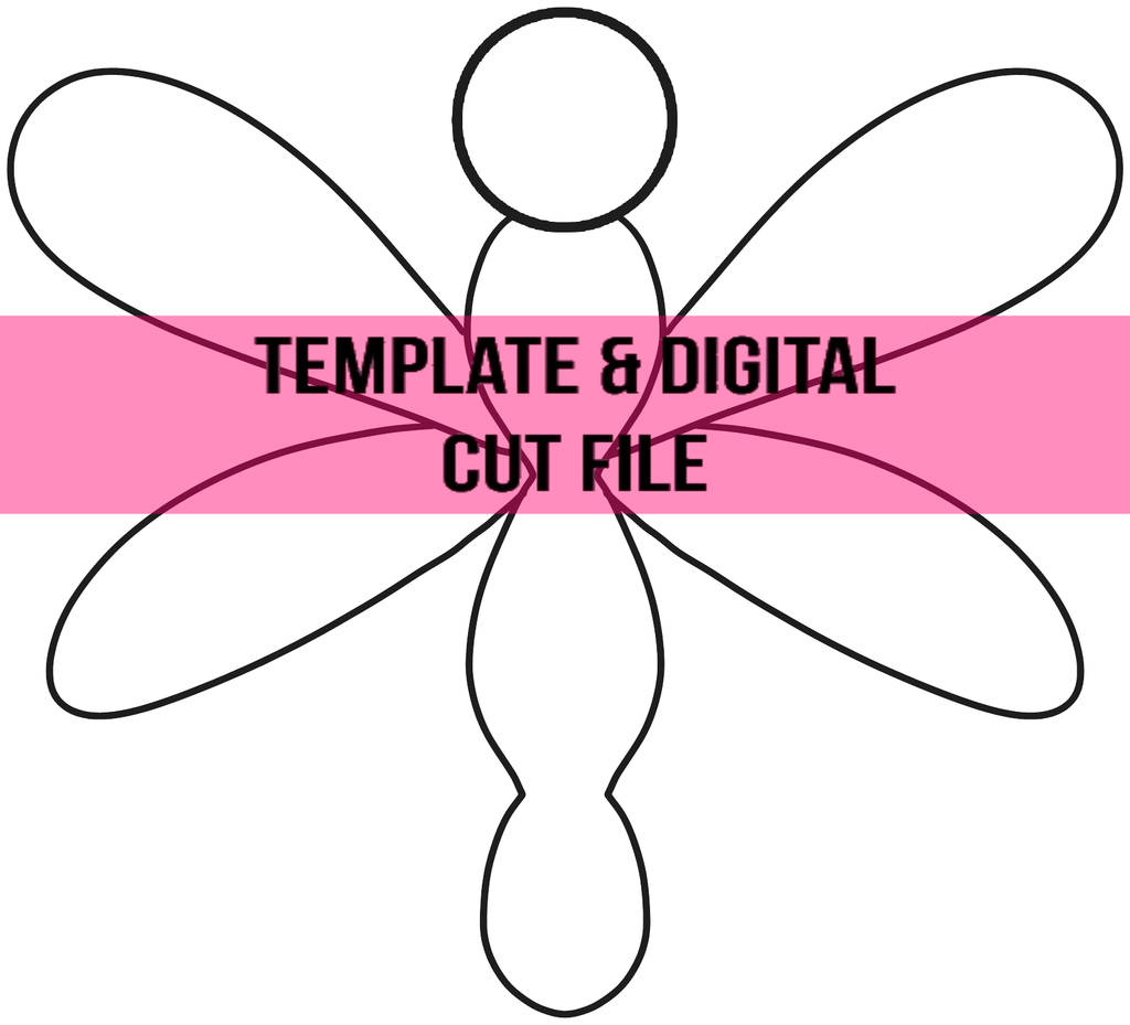 Dragonfly Template & Digital Cut File