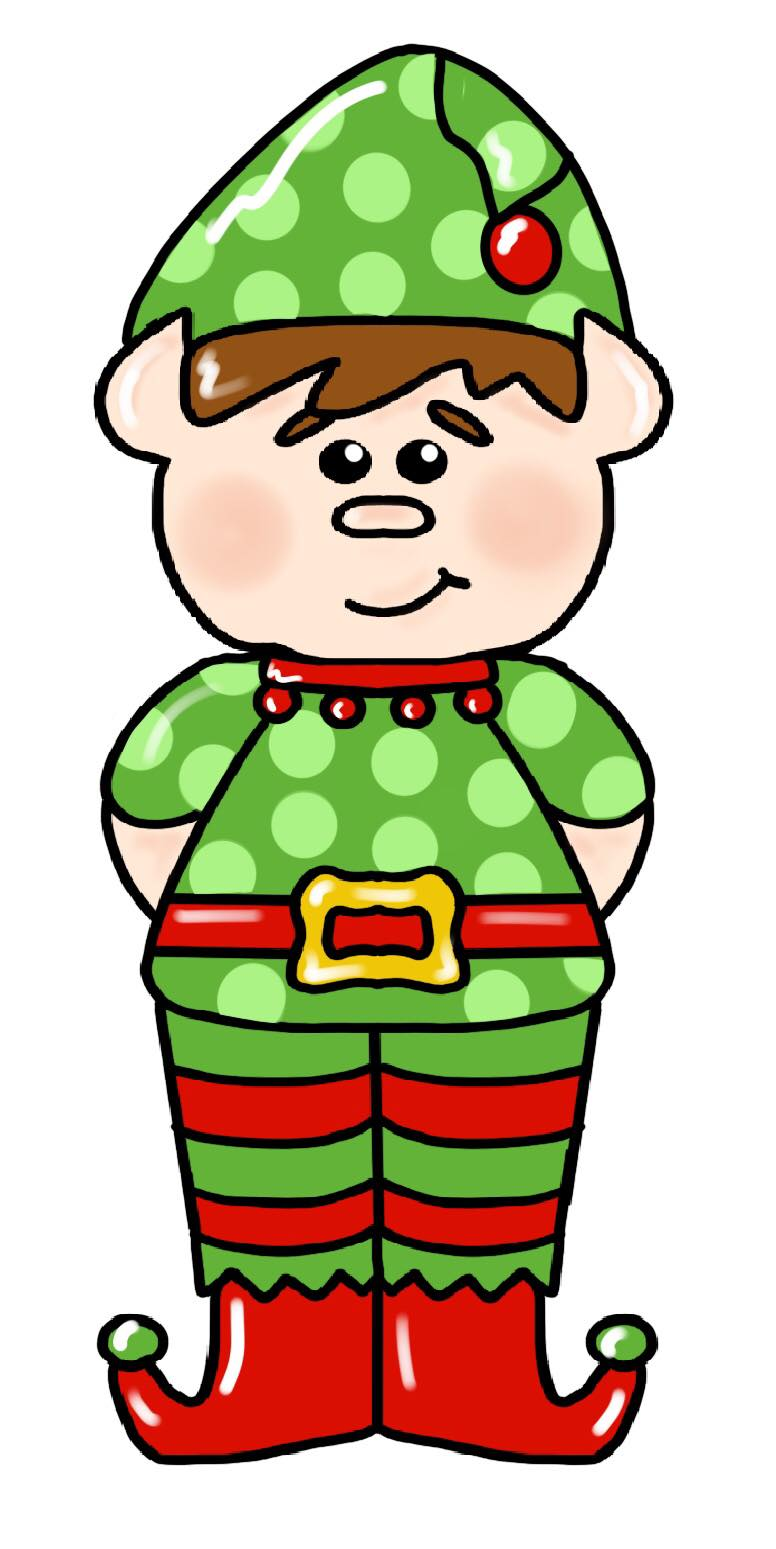 BLANK Elf Boy Ornament, Attachment or Door Hanger