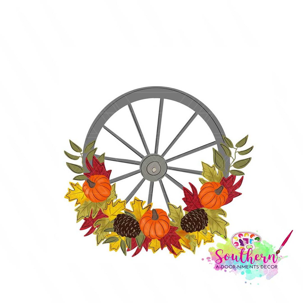 Floral Wagon Wheel Template & Digital Cut File