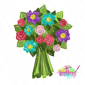 Flower Bouquet Wooden Blank
