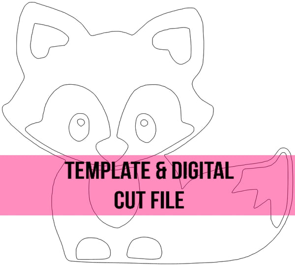 Baby Fox Template & Digital Cut File