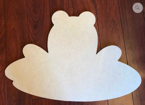 Blank Frog on Lilypad Ornament, Attachment or Door Hanger