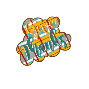 Give Thanks Template & Digital Cut File