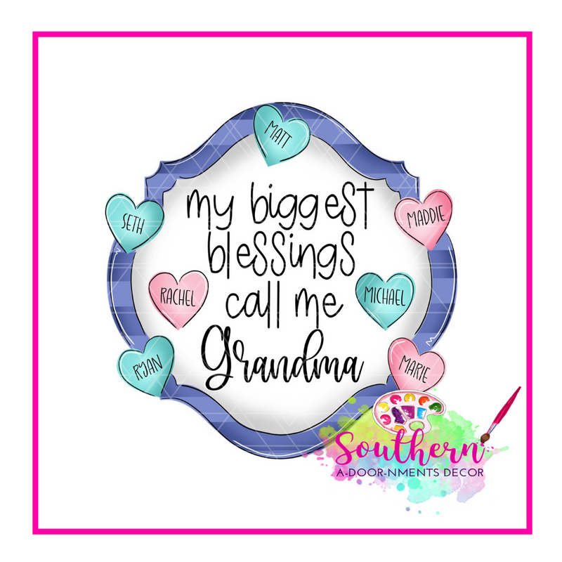 Grandmas Blessing Template & Digital Cut File