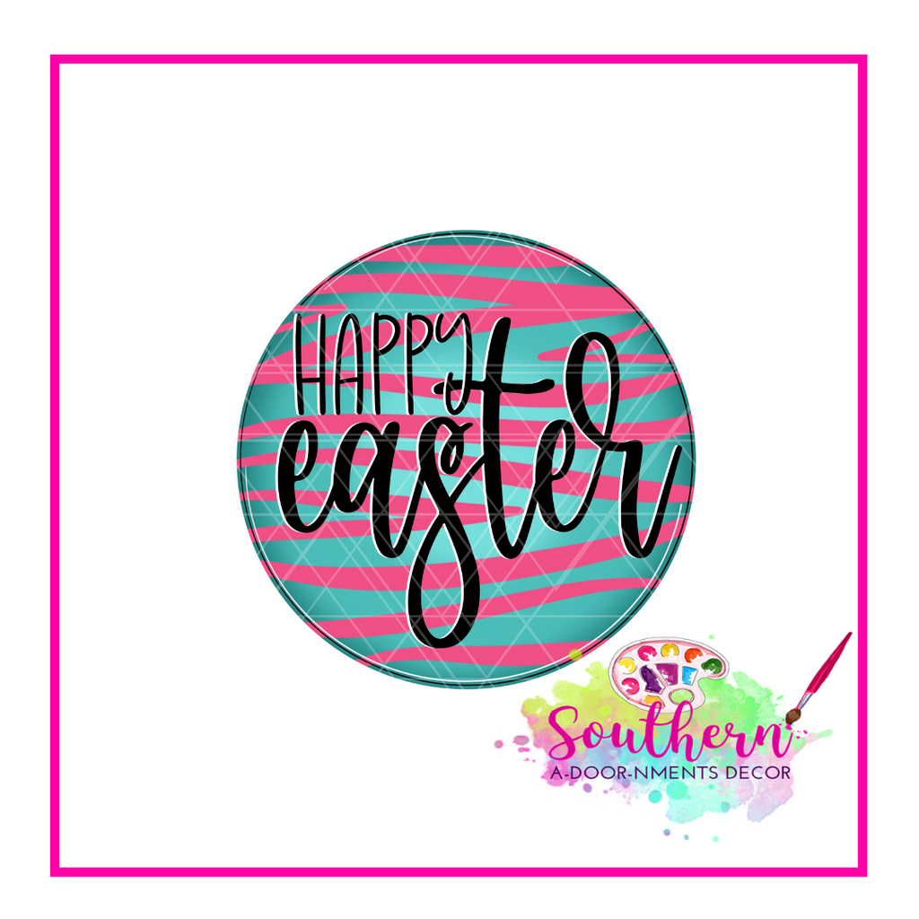 Happy Easter Circle Template & Digital Cut File