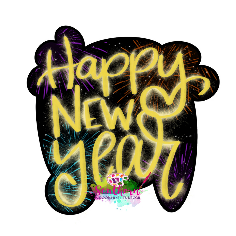 Happy New Year Template & Digital Cut File