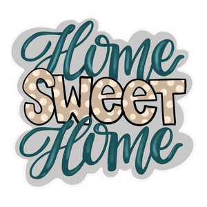 Home Sweet Home Bubble BLANK Ornament, Attachment or Door Hanger