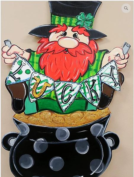 BLANK Laser Etched Leprechaun Ornament, Attachment or Door Hanger