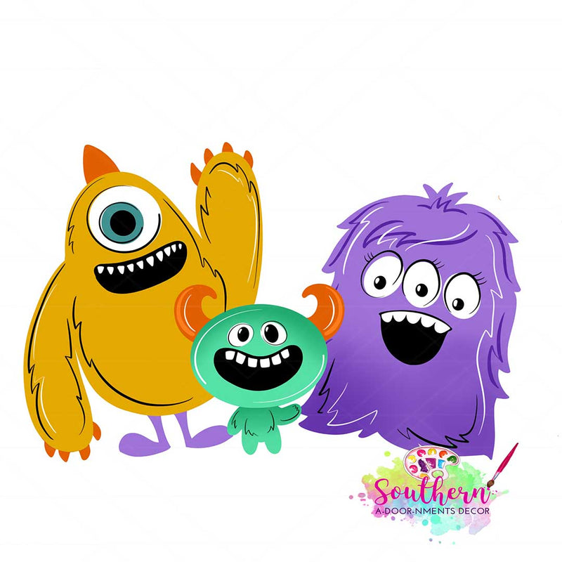 Monster Family Template & Digital Cut File