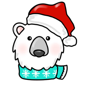 BLANK Polar Bear Ornament, Attachment or Door Hanger