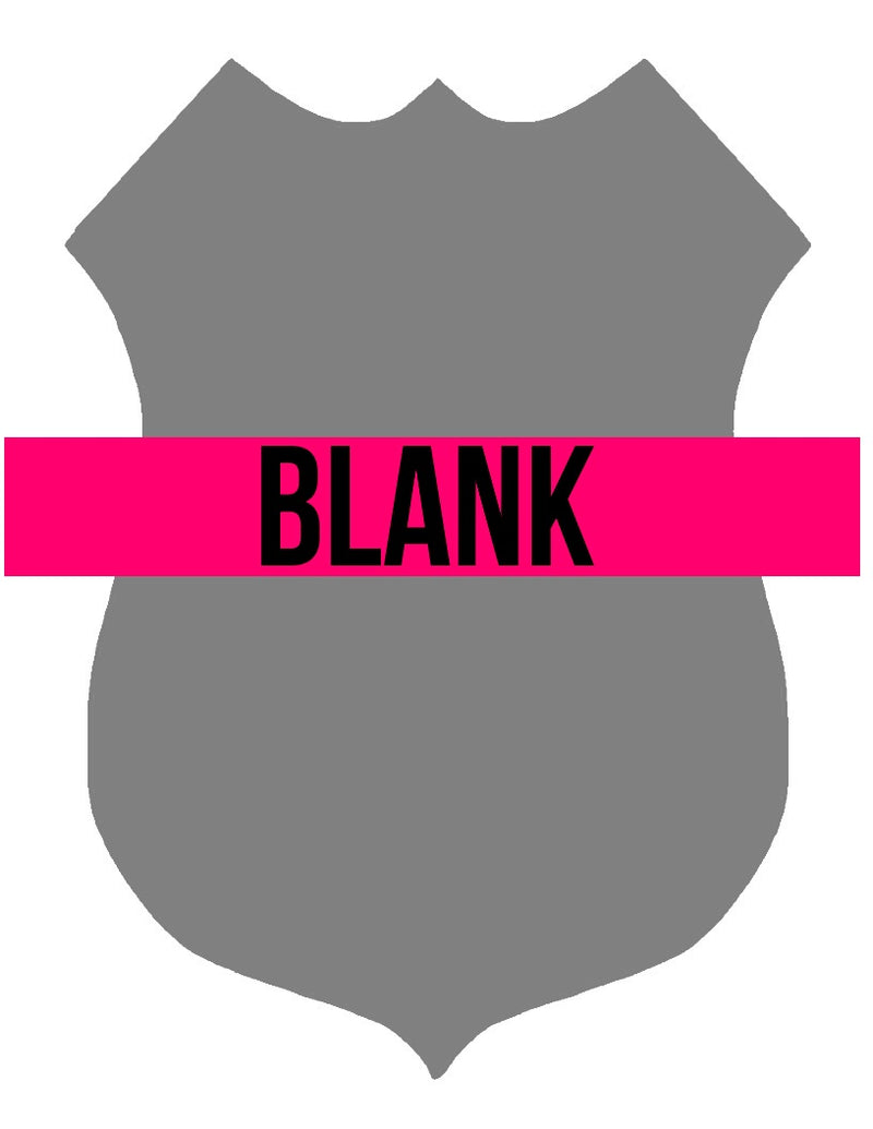 BLANK Police Badge Ornament, Attachment or Door Hanger