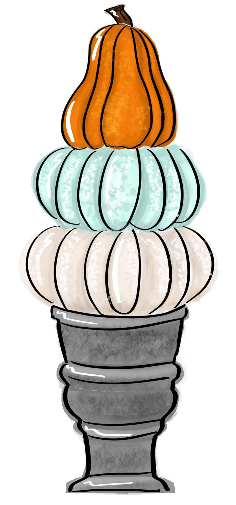 Pumpkin Topiary Template & Digital Cut File