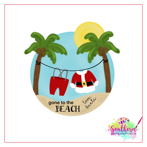 Gone to the Beach Ornament, Attachment or Door Hanger