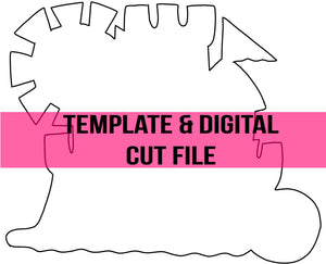 Sandcastle Template & Digital Cut File
