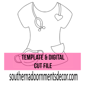 Scrub Top Template & Digital Cut File