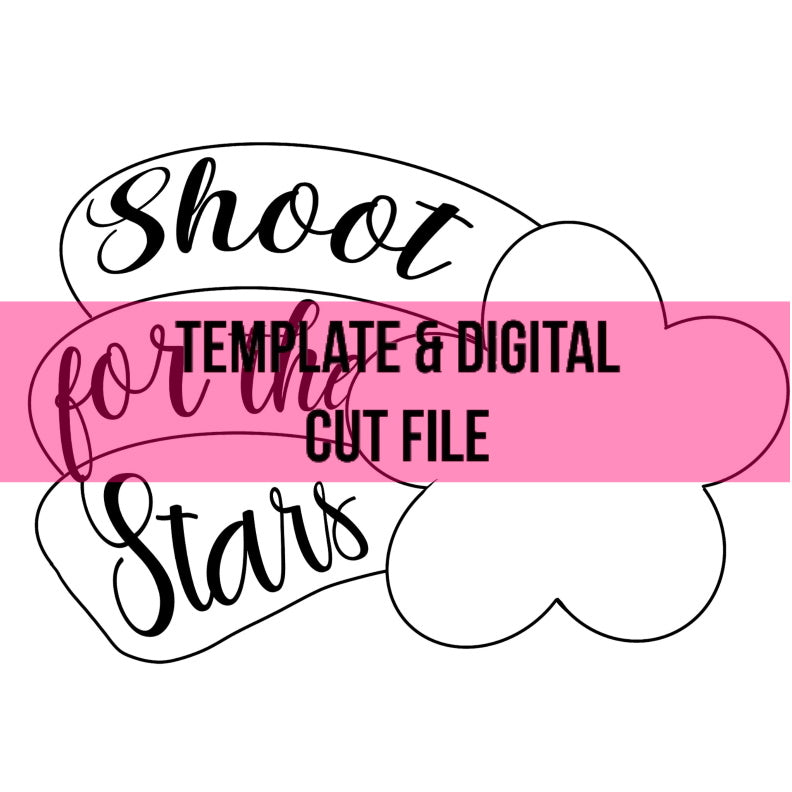 Shooting Star Template & Digital Cut File