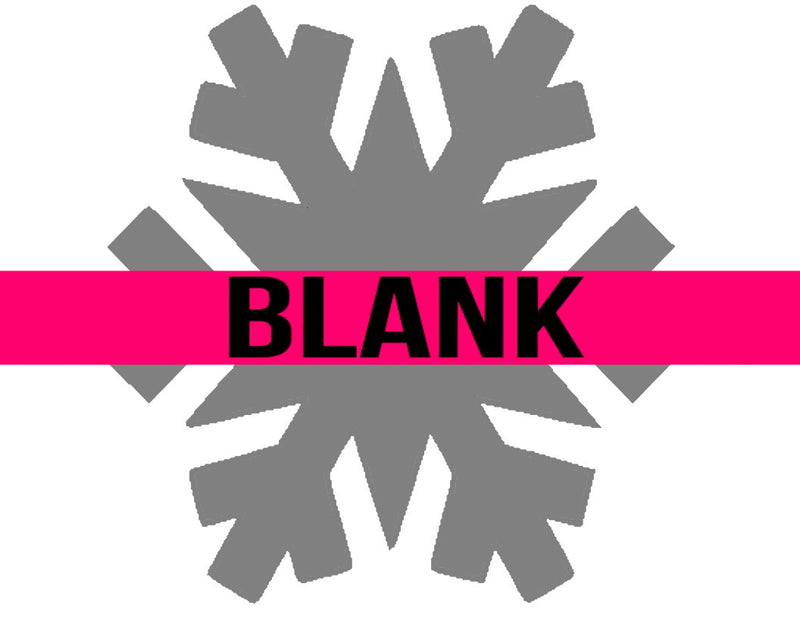 BLANK Snowflake Ornament, Attachment or Door Hanger