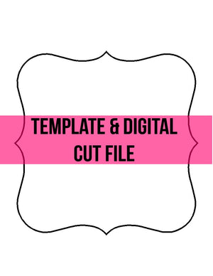 Square Frame Template & Digital Cut File