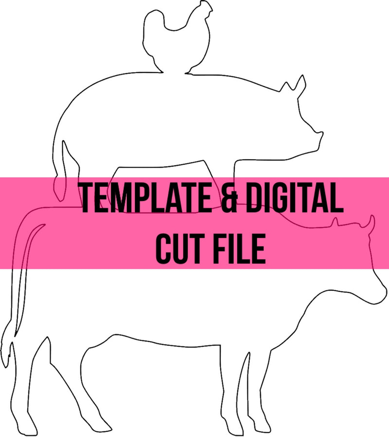 Stacked Farm Animals Template & Digital Cut File