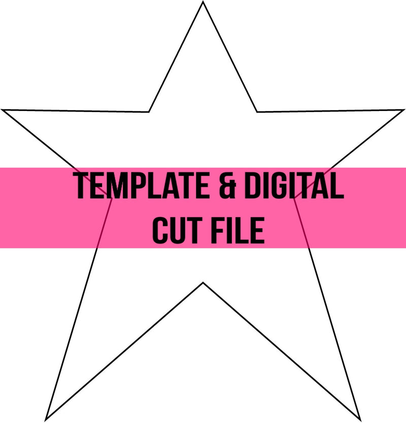 Star Template & Digital Cut File
