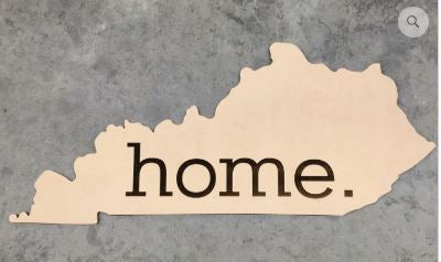 BLANK State Home Ornament, Attachment or Door Hanger